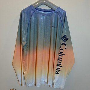 Men's Columbia Fishing Ombre Shirt Spellout XXL